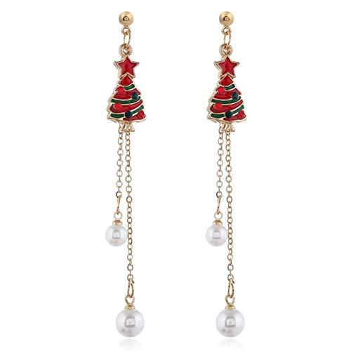 Christmas Earrings Series Bell Christmas Tree Sleigh Earrings Alloy Oil Drop Snowflake Earrings-03