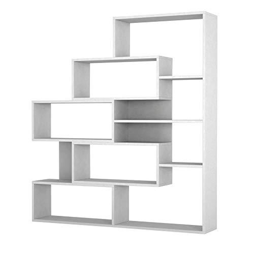 Alphamoebel Regale, Holzwerkstoff, Weiß, 151 x 139 x 25 cm