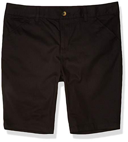 French Toast Girls' Adjustable Waist Stretch Twill Bermuda Short (Standard & Plus), School Uniform Black, 14