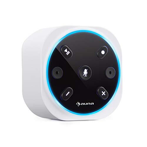 auna Intelligence Plug Wireless - Steckdosenradio, Steckdosen-Lautsprecher, Internet-Radio für Bad, Alexa-VoiceControl, Spotify Connect, Bluetooth, 2 W RMS, bis 30 m WLAN Reichweite, weiß
