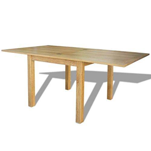 Festnight Esstisch Esszimmertisch Küchentisch Ausziehbarer Tisch Eiche 170x85x75 cm