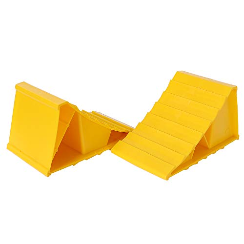 Homeon Wheels Heavy Duty Multi-Leveling Leveler Ramp Chocks Blocks for Camper RV Travel Trailer,2 Pack tri Leveler Adds Up to 4.3 in Height,Load Capacity of 4000 lbs