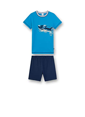Sanetta Jungen Pyjama kurz Zweiteiliger Schlafanzug, Türkis (türkis 5641), (Herstellergröße:104)