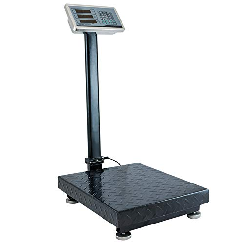 Houseables Industrial Platform Scale 600 LB x .05, 19.5' x 15.75', Digital, Bench, Large for Luggage, Shipping, Package Computing, Postal