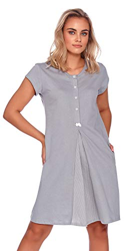 DN Nachthemd TCB.9703 Grey Gr. L