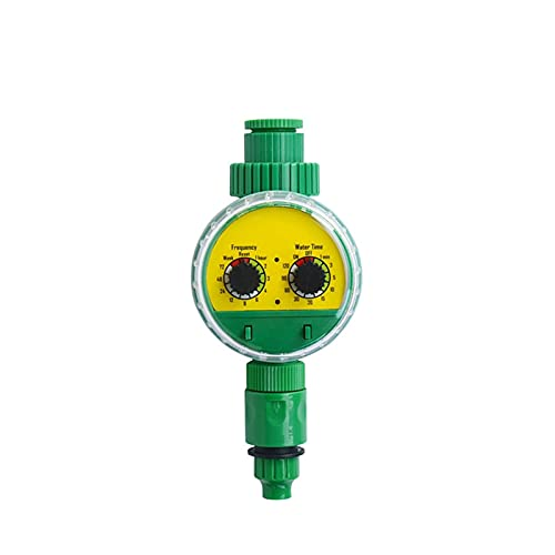 GuanRo Temporizador de riego automático Temporizador de Resorte Temporizador de Grifo al Aire Libre Aprieto automático en la Pantalla LCD Controlador Inteligente (Color : Verde)