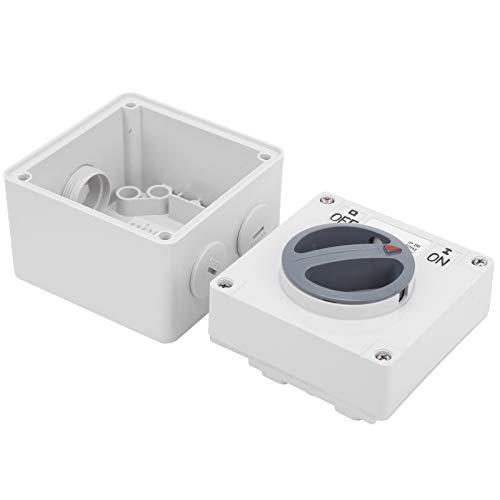 Interruptor aislador giratorio de 250 V Indicadores de botones IP66 Interruptor eléctrico Componentes de control industrial con bloqueo de seguridad(1P 32A)