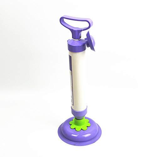 YLXD Saugglocke,Rohrreiniger Druckluft,Abflußreiniger Toiletten-Luftstößel,Druckluft Rohrreiniger,Hochdruck Pressluft Rohrreinigungspistole für Toilette Bad Küche mit 4 Aufsätzen