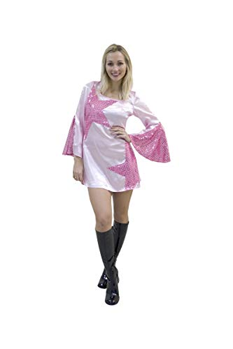 Robe rose disco dancer taille : 42-44