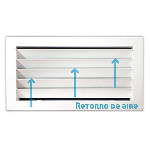 Rejilla de ventilación retorno blanco