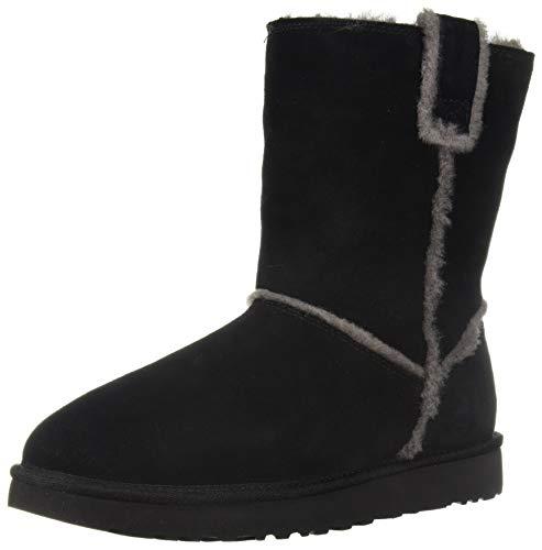 Price comparison product image UGG Women's W Classic Short Spill Seam Fashion Boot,  Black,  9 M US