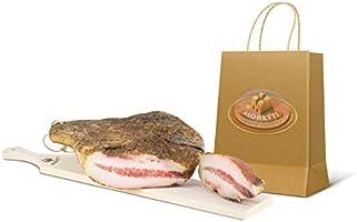 Moretti® | Guanciale Di Suino Stagionato Boccolaio Gourmet | Trancio in sottovuoto circa 800g/900g | Salume Tipico...
