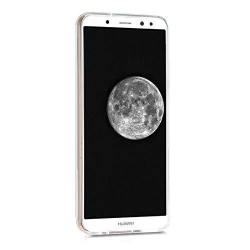 kwmobile Huawei Mate 10 Lite Hülle - Handyhülle für Huawei Mate 10 Lite - Handy Case in Mond Design Hellgrau Schwarz - 2