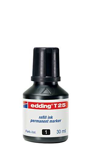 Edding T25-001 - Frasco de tinta permanente de 30ml, color negro (4-T25001) 🔥