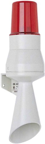 FHF Funke+Huster Hupe mit Warnleuchte HPL 230VAC rot Optisches/Akustisches Signalgerät 4250235502824