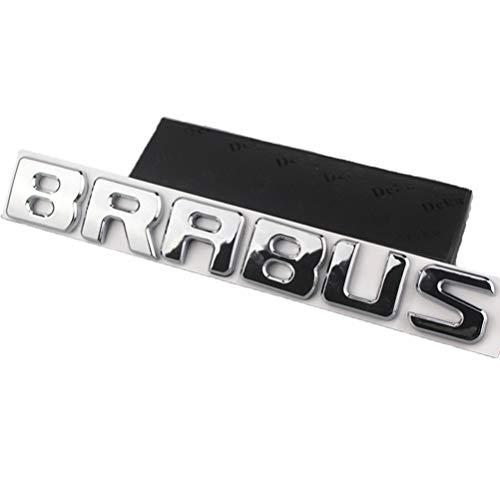 BRABUS Auto Dekoratives Logo -Brabus Aufkleber Karosserie-Dekorseite Standard, Galvanisches Logo Für Benz Brabus,White