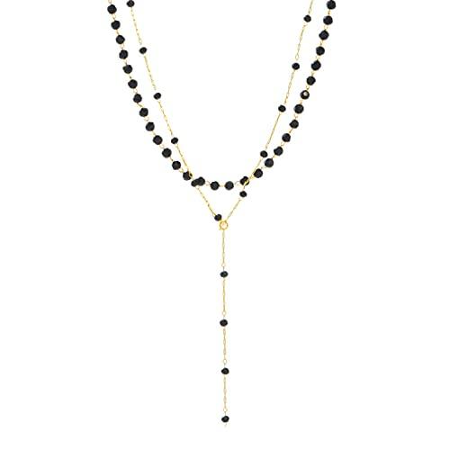YQMJLF Collar Moda Accesorios Collares Mujer Collar de espinela Negra con Sentido de diseño pequeño, Gargantilla Femenina, Cadena de clavícula Dulce señoras Joyas Boda Navidad año Nuevo Regalo
