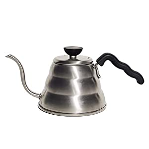 Hario Gooseneck Coffee Kettle 'Buono', Stovetop, 1.0L, Stainless Steel, Silver