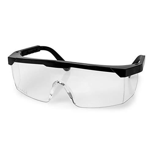 1 pieza/Gafas de protección de trabajo/con patillas ajustables/según la norma EN166/protección ocular/gafas de protección