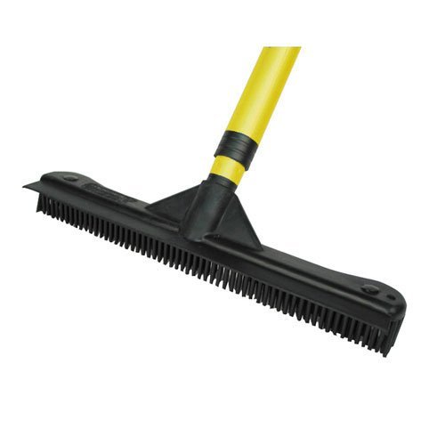 Rubber Broom For Pet Hair. Professional Hair Salon Broom. Sweepa Rubber Brooms. Build Your Own Sweepa Rubber Products. Telescopic Pole and 12 Inch Rubber Head.