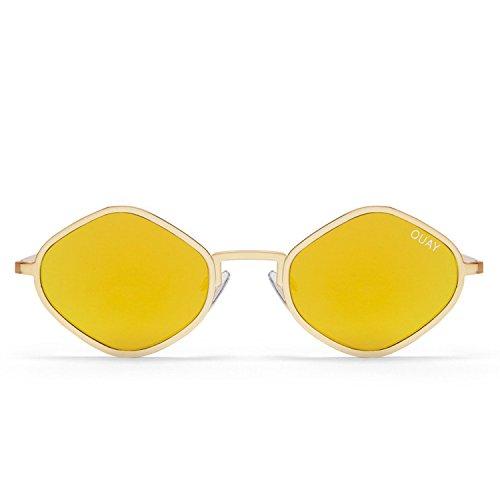 Quay Australia PURPLE Honey zonnebril, goud, 130