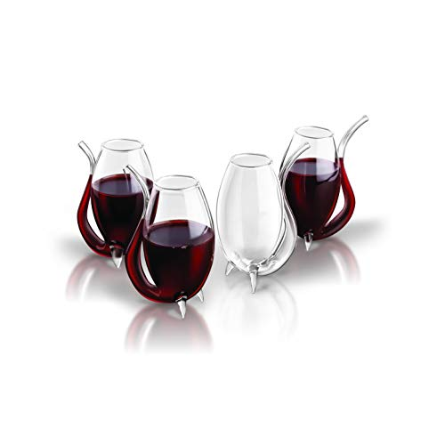 Final Touch Port Wine Sipper, Set of 4 with Deluxe Giftbox/Storage Case