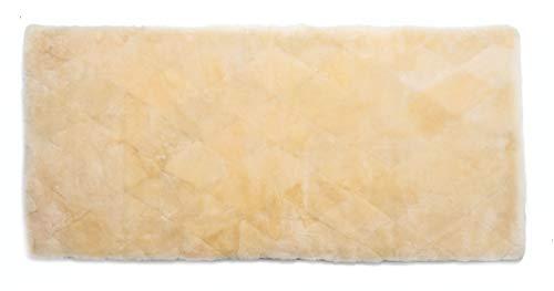 Medizinische Lammfell Betteinlage Bettfell Schaffell Patch 90x200cm (medizinisch gegerbt)