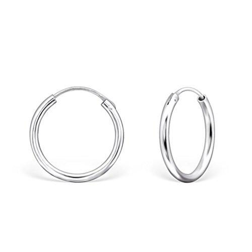 DTPsilver - Damen - Groß Creolen - Ohrringe 925 Sterling Silber - Dicke 2 mm - Durchmesser 30 mm…