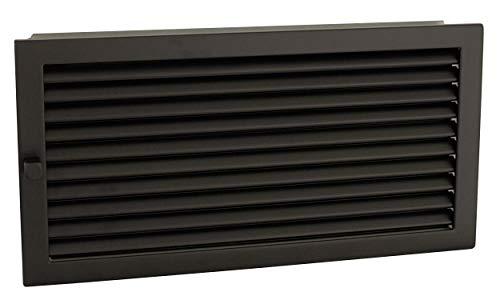 CB Warmluftgitter 45x23, schwarz, Standard