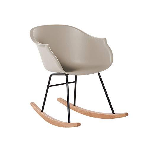 Beliani Stilvoller skandinavischer Schwingstuhl Beige Kunststoff Harmony