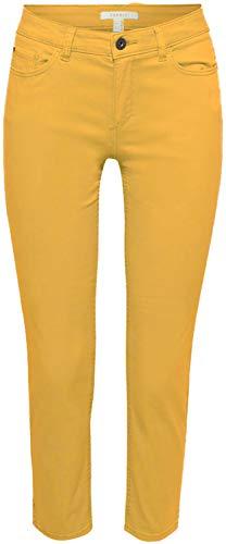 Pantalones amarillos media pierna de mujer