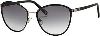 Liz Claiborne Black Rounded Cat Eye Women's Sunglasses
