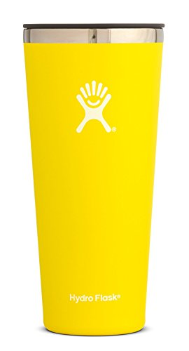 Hydro Flask Tumbler Cup - Stainless Steel & Vacuum Insulated - Press-in Lid - 32 oz, Lemon