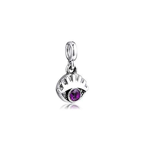 Pandora 925 Sterling Silver DIY Jewelry Charmme Eye Pulsera de mis ojos para hacer joyas amuletas