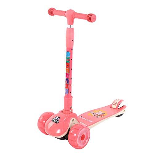 Tretroller Kinderroller Mit PU-LED Blinkt Räder, 6 Höhenverstellbar Kinderscooter Passend Jungen Mädchen stabile...