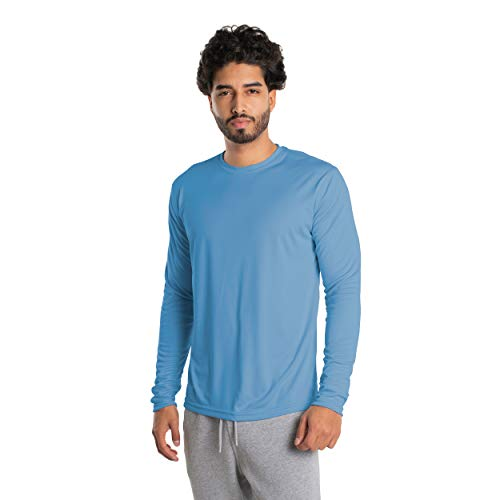 Vapor Apparel Men's UPF 50+ UV Sun Protection Long Sleeve Performance T-Shirt for Sports and Outdoor Lifestyle, X-Large, Columbia Blue