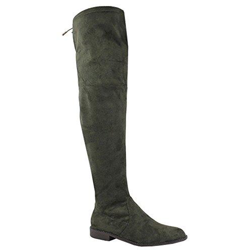 Yoki Women's Anora Fashion Boot, Olive, 10 M US