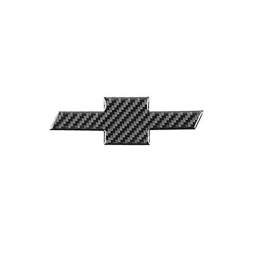 D28JD Logo-Emblem für Motorhaube Heckklappe Heckklappen Stamm Kohlefaser Buchstaben Aufkleber für Ch-evrolet Camaro Logo 2016-2019,After