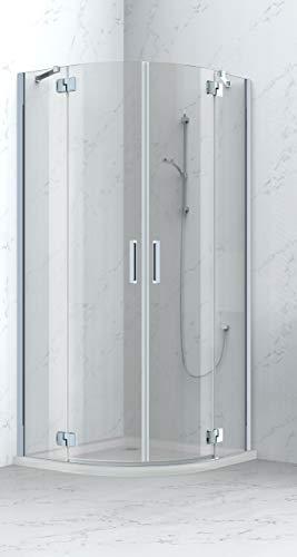 TrendLine Runddusche Easy 8 90 x 90 cm Duschkabine Viertelkreisdusche Eckdusche