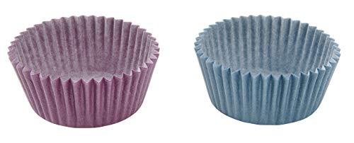 Zenker Papierbackförmchen CANDY, Muffinförmchen für schön dekorierte Muffins, Cupcakeförmchen aus Papier (Farbe: Frozen Rose/Eisblau), Menge: 1 x 100 Stück