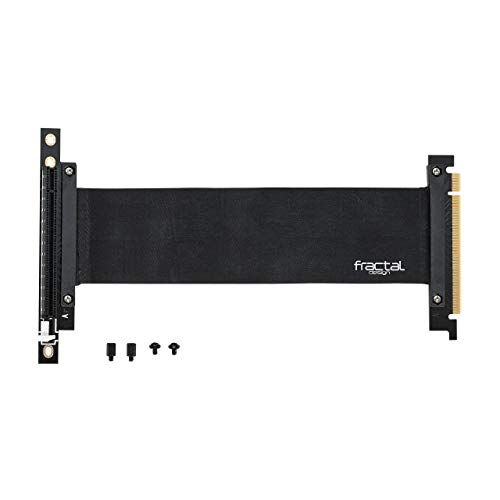 Fractal Design Flex VRC-25 - PCI-E Riser for Define R6 - Define S2 - Define S2 Vision - Meshify S2 - PC Case - Highly Flexible - Zero-Latency Performance - Full PCIe 3.0 Support - Accessory