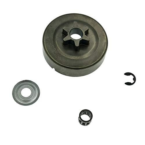 4Stk Kettensäge Clutch Drum Kettenrad 3//8 6T Scheibe E-Clip für STIHL MS170 180
