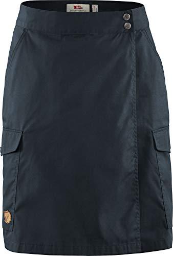 FJÄLLRÄVEN Damen Övik Travel Skirt W, Dark Navy, 40