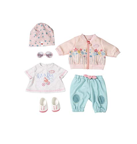 Zapf Creation 703342 Baby Annabell Active Fahrrad Deluxe Set Puppenkleidung 43 cm, rosa/mint