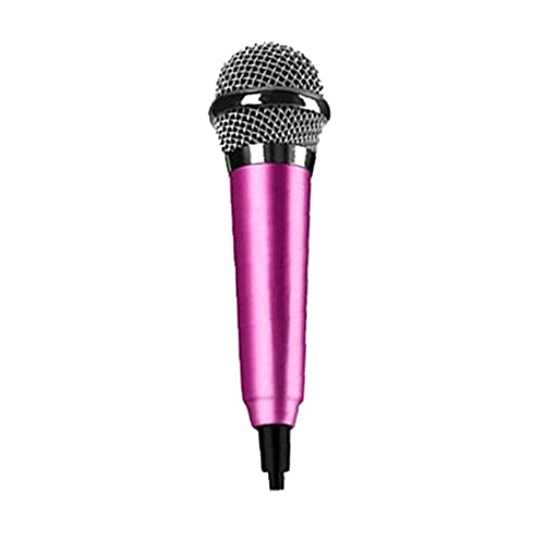 Aiyrchin Mini Micrófono Estilo Estéreo Ktv Karaoke Micrófono De Instrumento Portátil para Teléfono Móvil Portátil Portátil Rosy