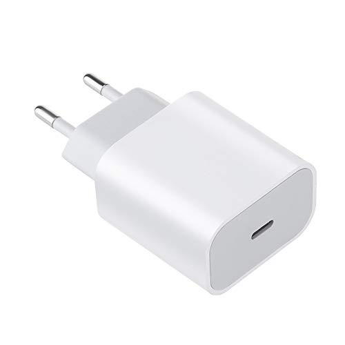 Lukame Cargador de carga rápida Cargador rápido de 18W Cargador rápido USB-C para Iphone 12