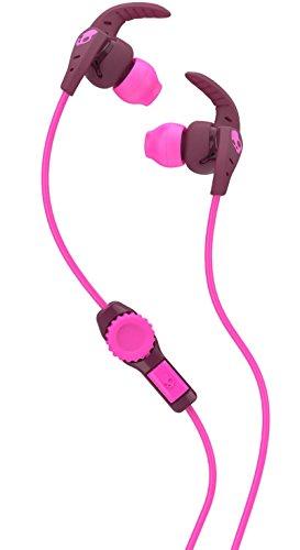 Skullcandy XTplyo In-Ear Sport Kopfhörer Ohrhörer mit Universal Fernbedienung/Mikrofon Schweißbeständig - Pflaume/Pink