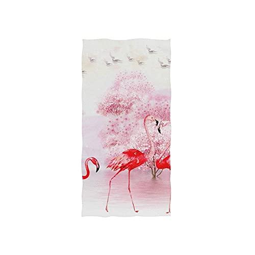 Watercolor FLA-Mingo Toallas Baño Microfibra Toalla De Playa Impreso Toalla De Piscina Superabsornte Toallas De Baño