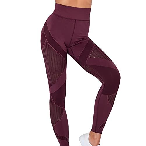 lossomly Pantalones de yoga sexy para mujer, ajustados, sin costuras, para mujeres y niñas.