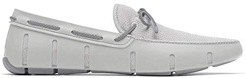 SWIMS Braided Lace Loafer White/Alloy 9